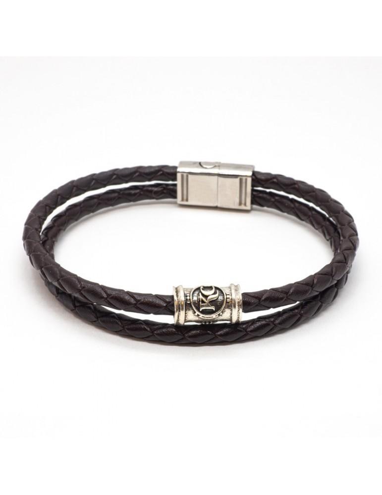Bracelet cuir café kinacou