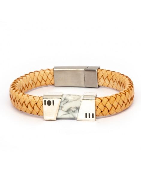 "Bracelet ""Fusion"" Kinacou - Howlite"