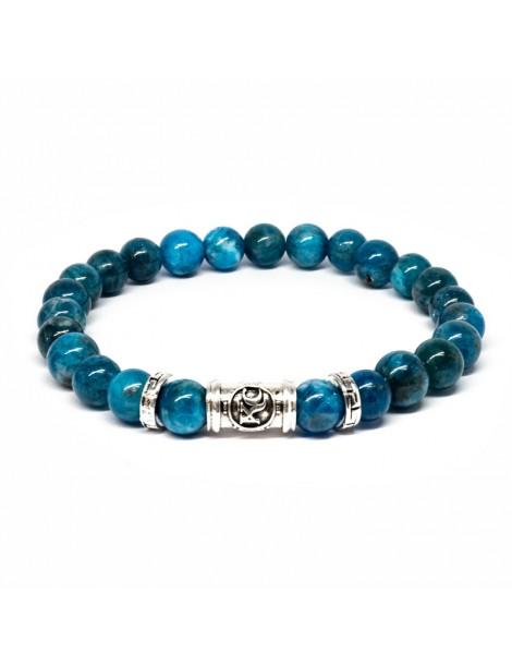 Bracelet bleu Kinacou - Apatite bleu