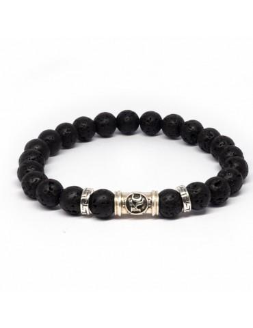 Bracelet noir Kinacou - Pierre de Lave