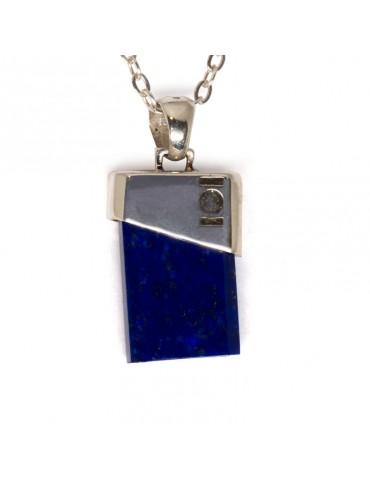 """Pendentif """"Fusion"""" Kinacou - Lapis Lazuli"""