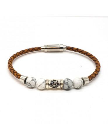 Équilibre Bracelet homme Kinacou Cuir et Perles