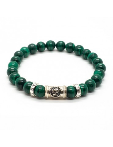 Bracelet malachite vert kinacou homme