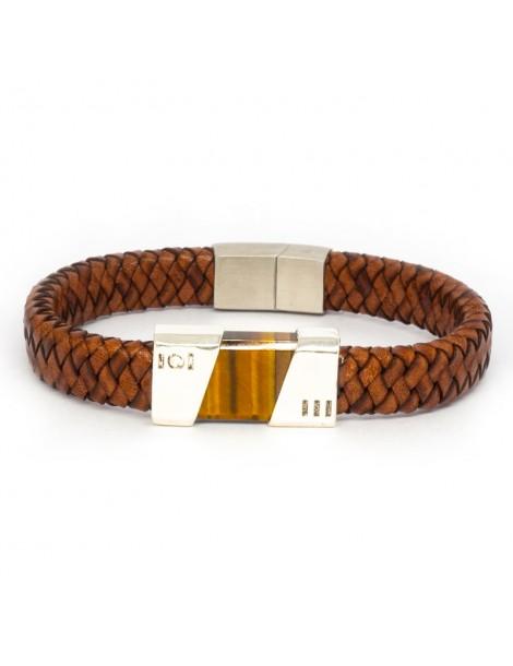 """Bracelet """"Fusion"""" Kinacou - Œil de Tigre"""