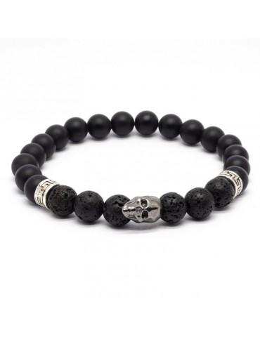 Bracelet Skull noir Kinacou...