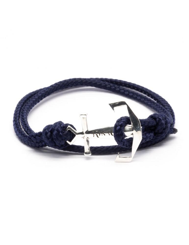 Bracelet Ancre marine Kinacou - cordage bleu