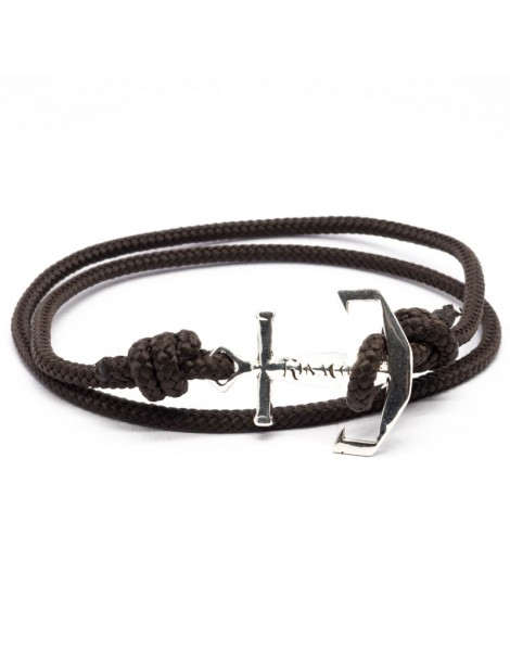 Bracelet Ancre marine Kinacou - cordage marron