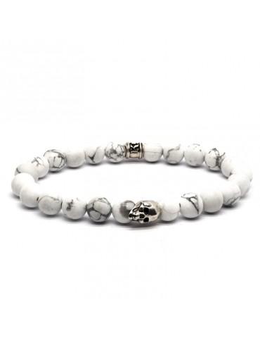 Bracelet Skull blanc...