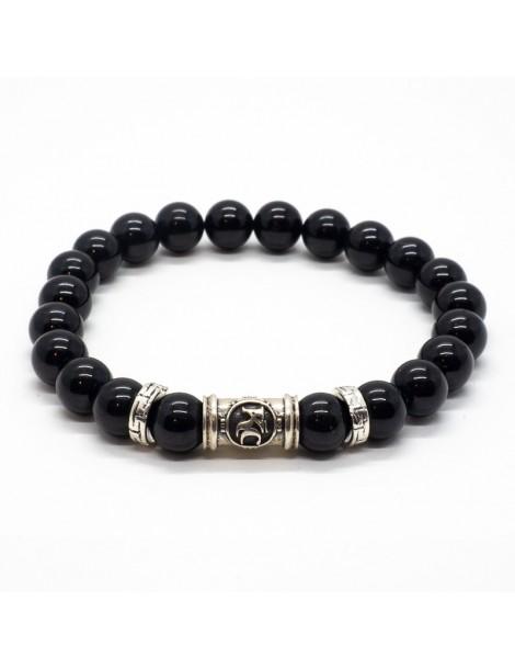 Bracelet kinacou obsidienne oeil céleste