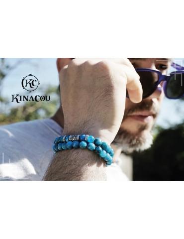 Bracelet Apatite bleu Énergie - KINACOU