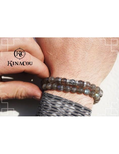 Bracelet Labradorite Énergie - Bleu Kinacou